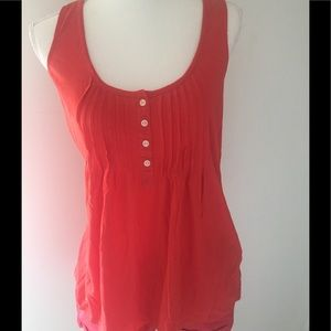 Joie flowy tank top size small red